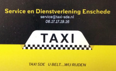 KOERIERS -TAXI SDE. ENSCHEDE